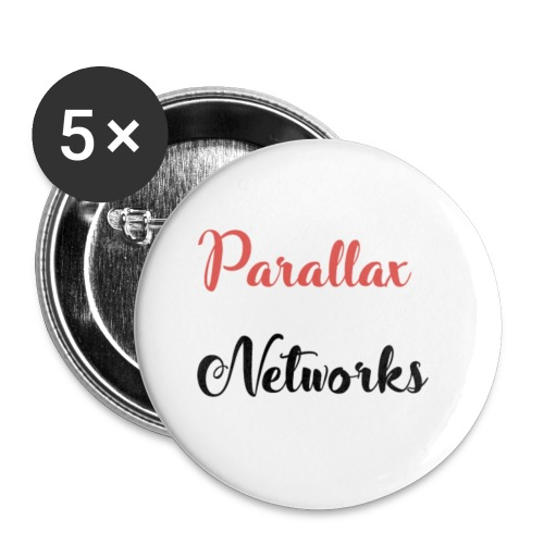 Parallax Logo Box - Buttons small 1''/25 mm (5-pack)