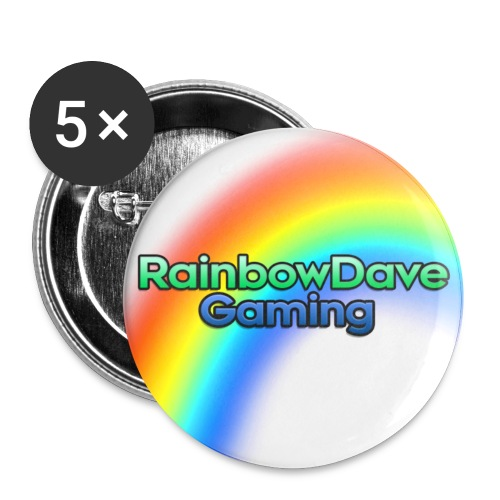 RainbowDave Gaming Logo - Buttons small 1''/25 mm (5-pack)