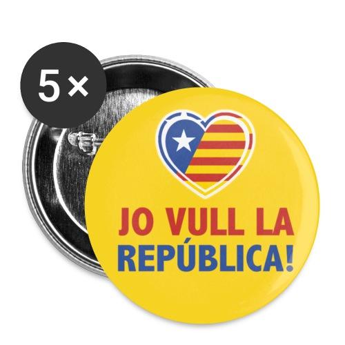 Txapa República - Paquete de 5 chapas pequeñas (25 mm)