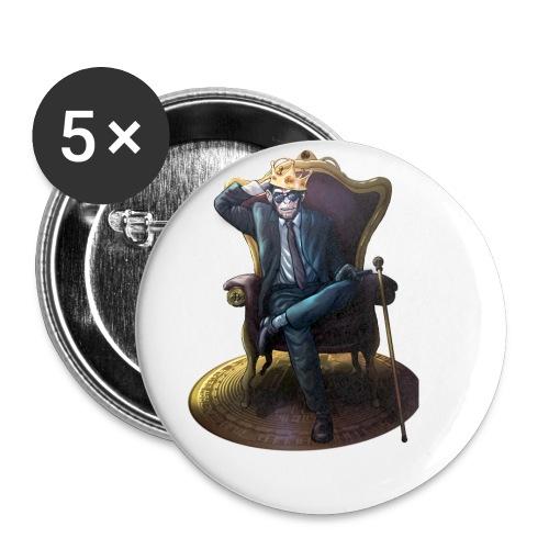 Bitcoin Monkey King - Gamma Edition - Buttons klein 25 mm (5er Pack)