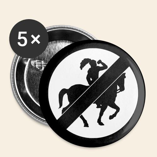Non bibe et equita Logo - Buttons klein 25 mm