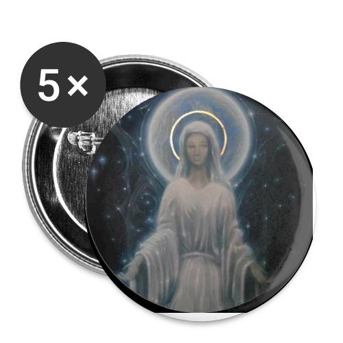 圣母玛利亚 Notre Dame by Jean Libon (Noir) - Lot de 5 petits badges (25 mm)