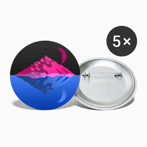 Bisex mountains - Buttons small 1''/25 mm (5-pack)