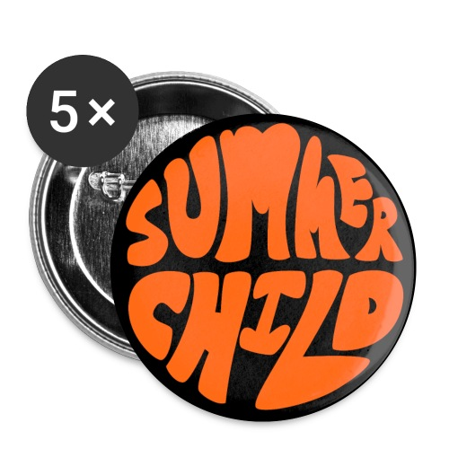 Summer child - Buttons small 1''/25 mm (5-pack)