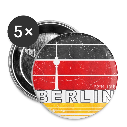 BERLIN, Germany, Deutschland - Buttons small 1''/25 mm (5-pack)