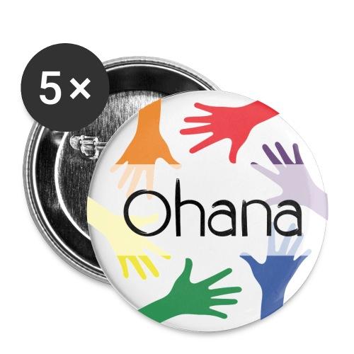 Ohana heißt Familie - Buttons klein 25 mm (5er Pack)