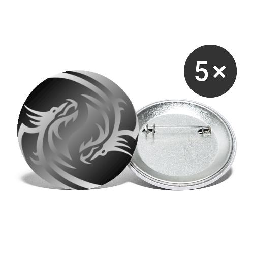 Yin Yang Dragon - Buttons small 1''/25 mm (5-pack)