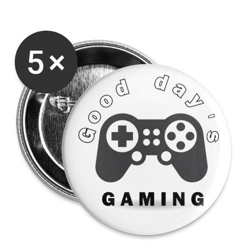 Good Day´s GAMING Merchendise - Små knappar 25 mm (5-pack)