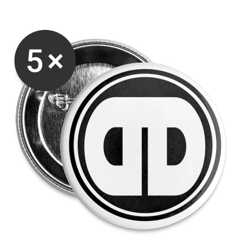 DDz Badge Logo V2 Black - Buttons small 1''/25 mm (5-pack)