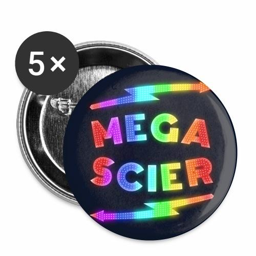 Megascier - Lot de 5 petits badges (25 mm)