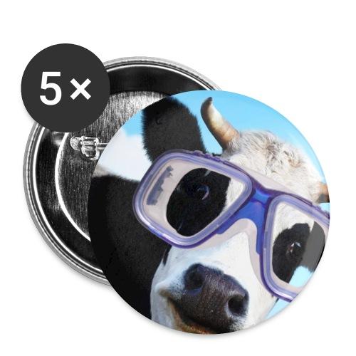La Vache masquée - Lot de 5 petits badges (25 mm)