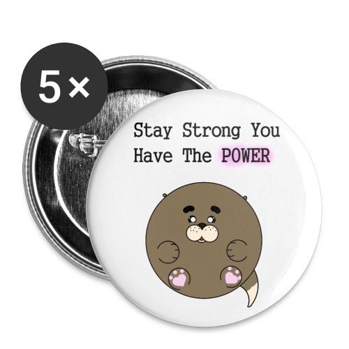 Utter POWER - Små knappar 25 mm (5-pack)