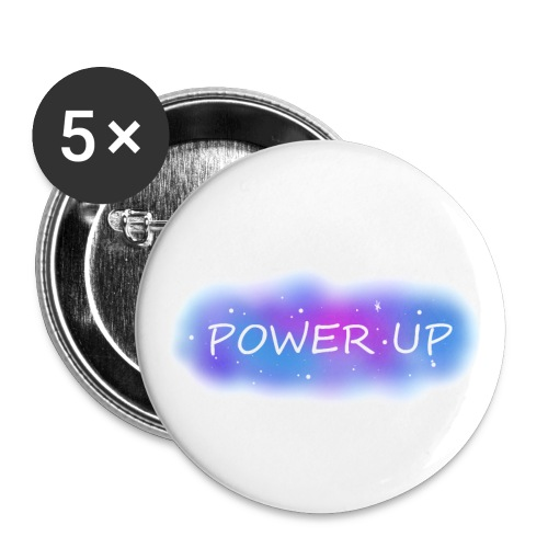 Power UP - Små knappar 25 mm (5-pack)