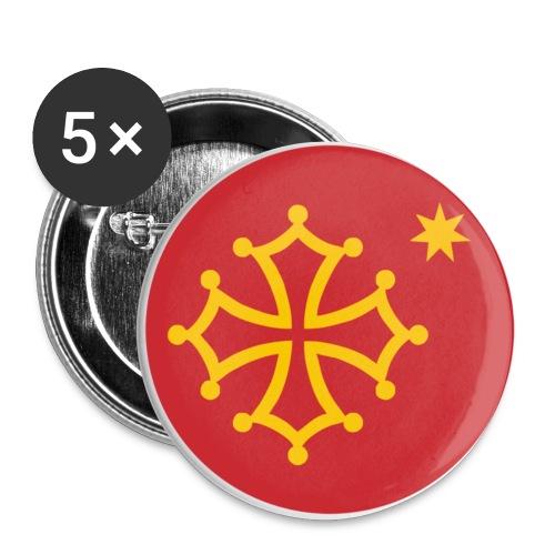oc - Confezione da 5 spille piccole (25 mm)