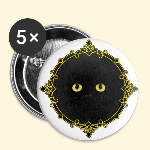 Badge Chat Noir - Pixel Art - Badge petit 25 mm