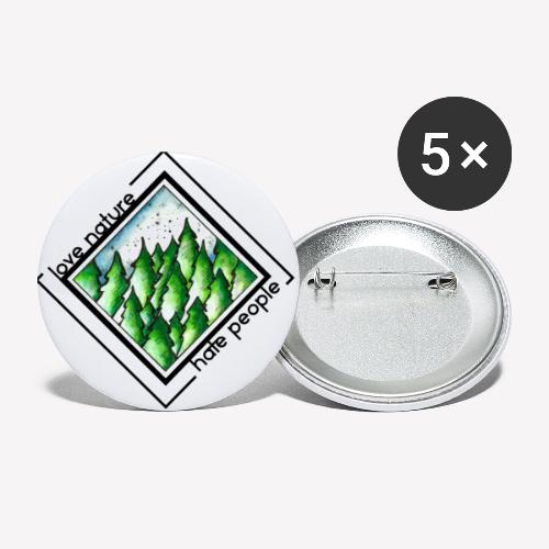 Love Nature - Buttons klein 25 mm (5er Pack)