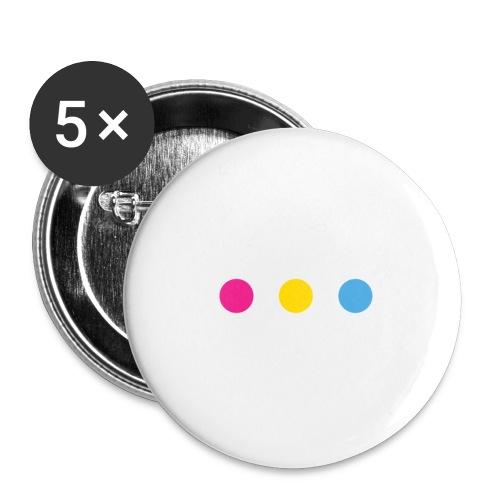 Logo LGBT Pansexuel - Lot de 5 petits badges (25 mm)