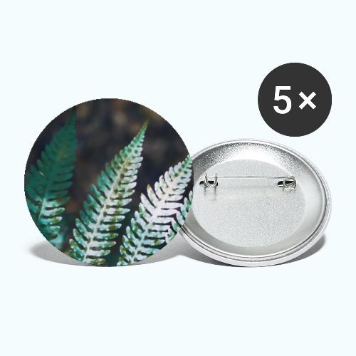 Pale fern watercolor - Buttons small 1''/25 mm (5-pack)