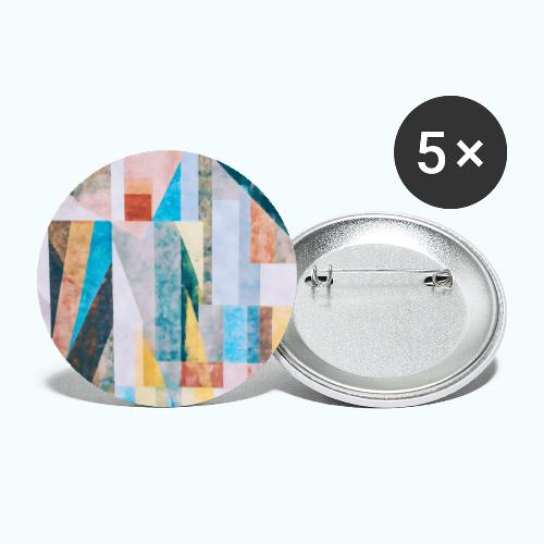 Abstract geometry watercolor - Buttons small 1''/25 mm (5-pack)