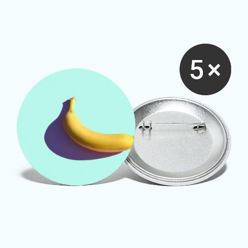 Abstract banana minimalism watercolor - Buttons small 1''/25 mm (5-pack)