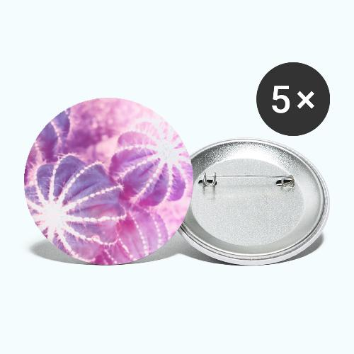 Summer cactus watercolor minimalism - Buttons small 1''/25 mm (5-pack)