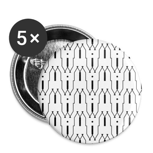 Motif en W - Lot de 5 petits badges (25 mm)