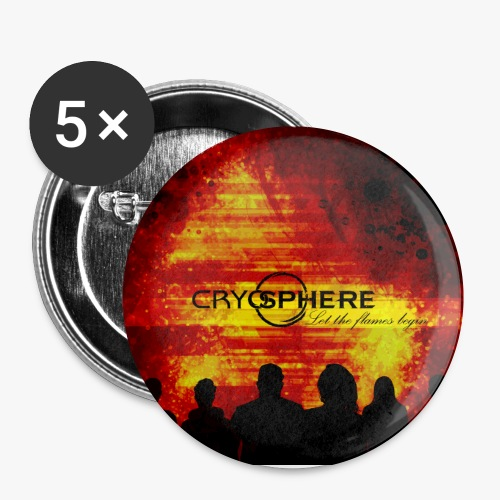 Let the flames begin Poster - Buttons small 1''/25 mm (5-pack)