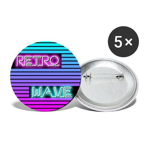 Retrowave poster - Buttons klein 25 mm (5er Pack)