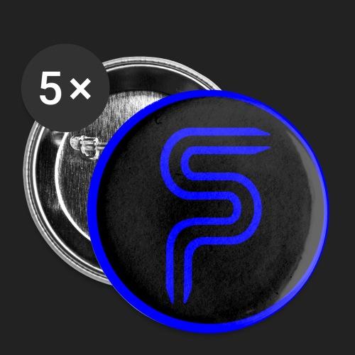 Saberproject Kreis Logo schwarz - Buttons klein 25 mm (5er Pack)