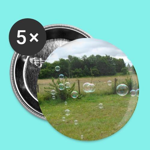 Seifenblasen - Buttons klein 25 mm (5er Pack)