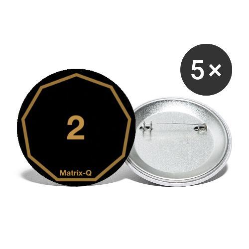 Matrix-Q MUG 2 - Buttons small 1''/25 mm (5-pack)