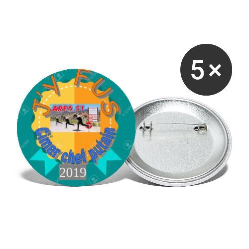 badge 2019 - Lot de 5 petits badges (25 mm)