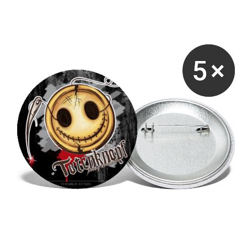 Poster Totenknopf - Buttons klein 25 mm (5er Pack)