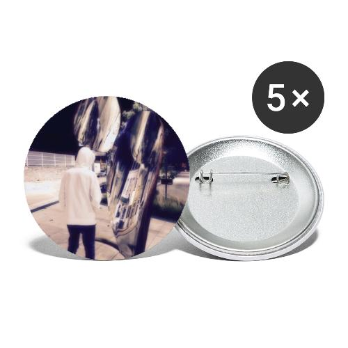 Human Souls style - Buttons small 1''/25 mm (5-pack)