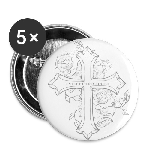 Respect - Buttons klein 25 mm (5er Pack)