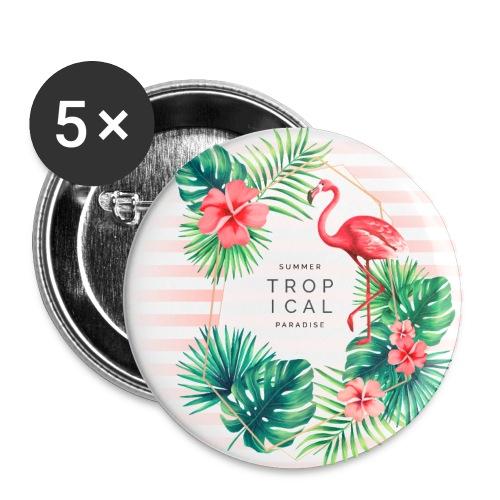 flamingo4 - Przypinka mała 25 mm (pakiet 5 szt.)