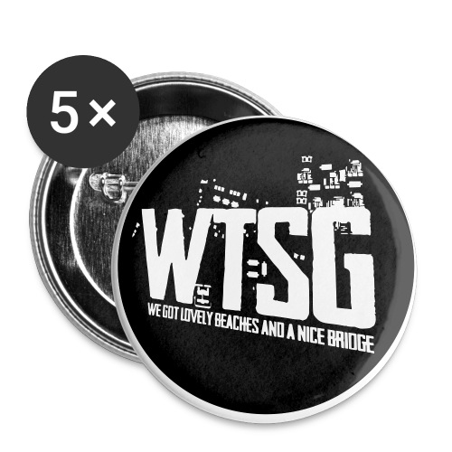 WTSG Logo - Buttons small 1''/25 mm (5-pack)