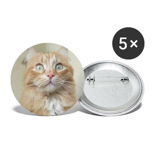 Gatto Ninni - Confezione da 5 spille piccole (25 mm)