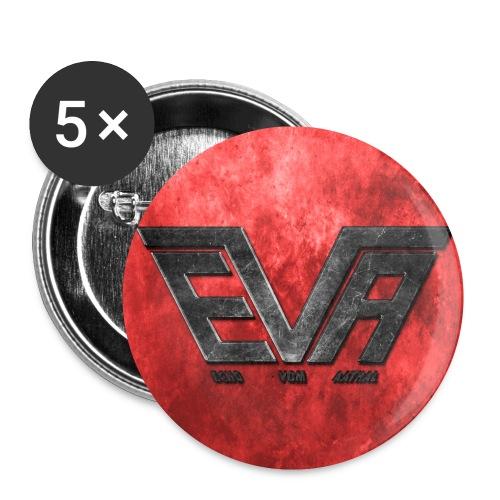 EVA Logo farbig - Buttons klein 25 mm (5er Pack)