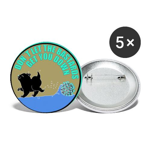 Cat vs. Virus - Buttons klein 25 mm (5er Pack)