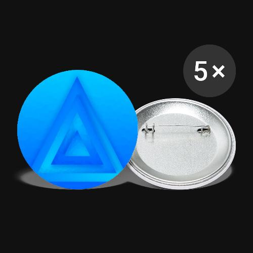 Water Pyramid - Buttons klein 25 mm (5er Pack)