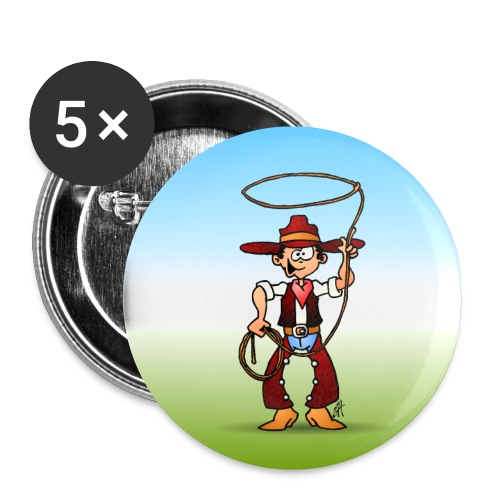 Cowboy with a lasso - Buttons small 1''/25 mm (5-pack)