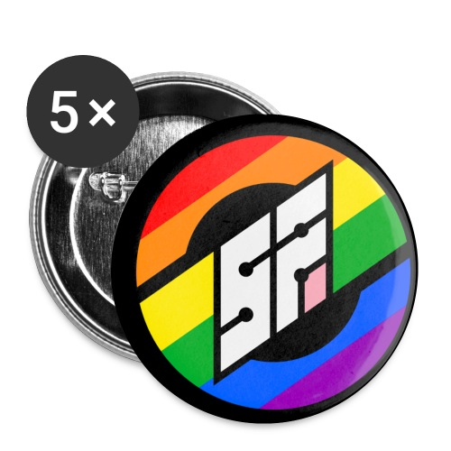 SotonFurs Pride Roundel Backed - Buttons small 1''/25 mm (5-pack)