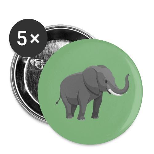Elefantenklasse222 - Buttons klein 25 mm (5er Pack)