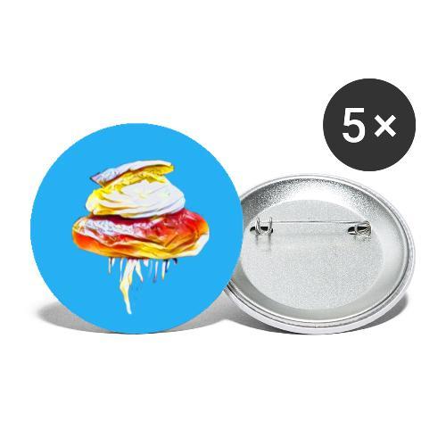 Semla bun - Små knappar 25 mm (5-pack)