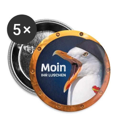 Moin ihr Luschen! - Buttons klein 25 mm (5er Pack)