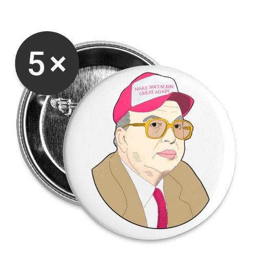 #MakeSocialismGreatAgain - Confezione da 5 spille piccole (25 mm)