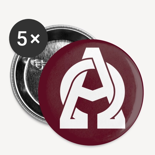 ALPHA AND OMEGA - Buttons small 1''/25 mm (5-pack)