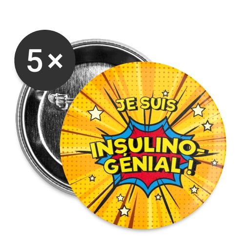 Insulino-génial ! - Lot de 5 petits badges (25 mm)