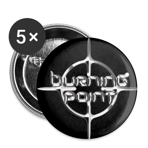 mustalogo - Buttons small 1''/25 mm (5-pack)